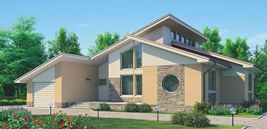 Фото двухэтажного дома из пеноблоков
