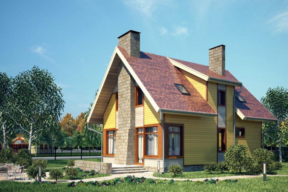 фото проекта одноэтажного дома с мансардой