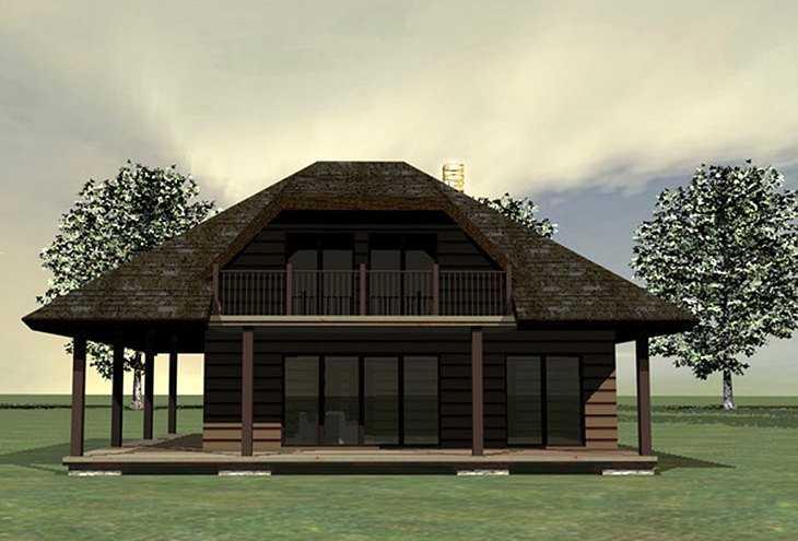 Проект двухэтажной бани