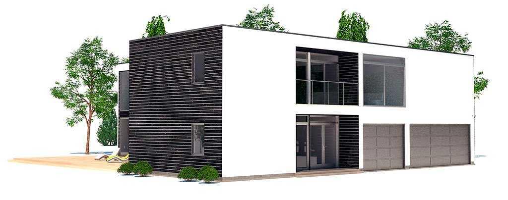 Фасад большого двухэтажного дома