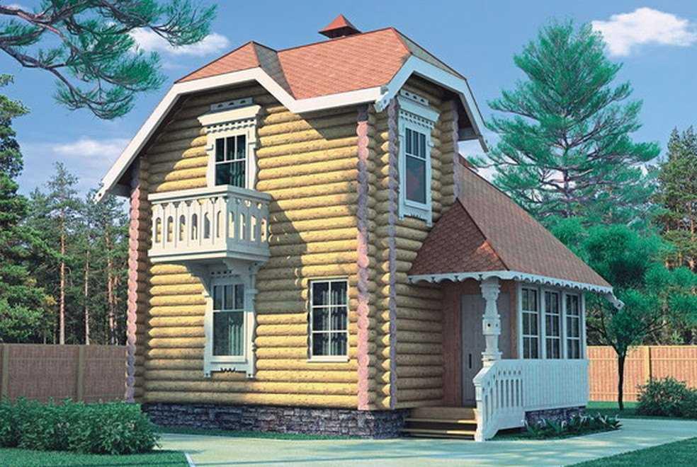 Фото двухэтажного дома 6 на 6