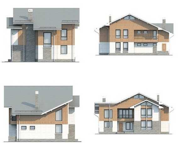 Фото фасадов дома в современном стиле