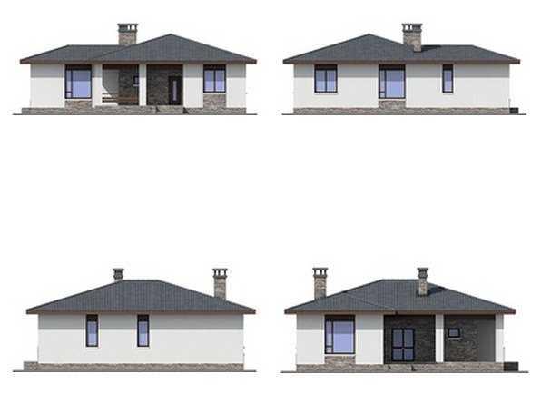 фото фасадов красивого одноэтажного дома