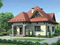 Фото одноэтажного дома общей площадью 123 кв.м.