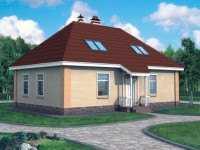 Фото одноэтаэного дома из пеноблоков площадью 141 кв.м.
