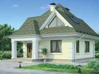 Фото одноэтаэного дома из пеноблоков общей площадью 99 кв.м.
