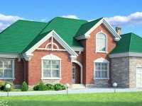 Фото одноэтаэного дома с гаражом общей площадью 222 кв.м.
