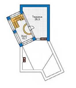 План цокольного этажа в стиле модерн