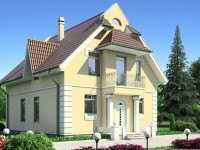 Фото двухэтажного дома 8 на 8 общей площадью 168 кв.м.