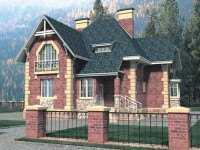 Фото двухэтажного дома 8 на 8 общей площадью 181 кв.м.