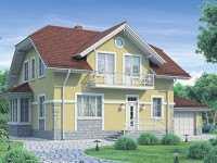 Фото дома в английском стиле общей площадью 178 кв.м.