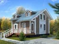 Фото двухэтажного дома общей площадью 94 кв.м.