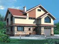 Фото двухэтажного дома с гаражом общей площадью 184 кв.м.