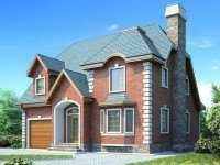 Фото двухэтажного дома с гаражом общей площадью 185 кв.м.