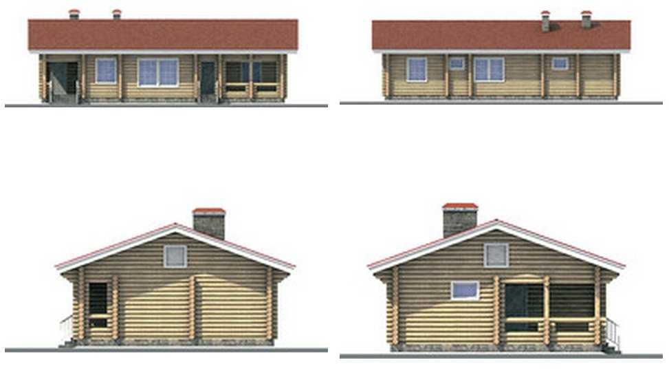 фото фасадов одноэтажного дома из бруса