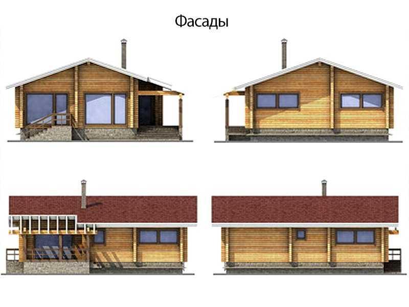 Фасады дома 10x10