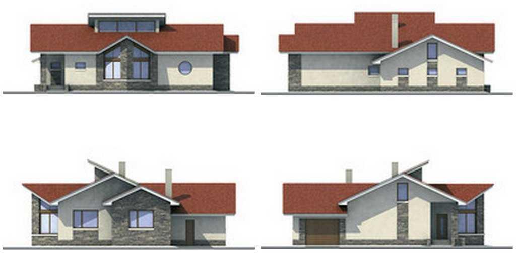 фото фасадов одноэтажного дома из пеноблоков