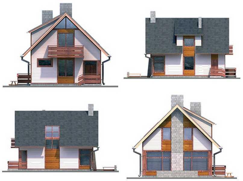Фото фасадов одноэтажного дома с мансардой