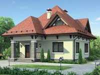 Фото одноэтажного дома с мансардой общей площадью 123 кв.м