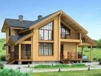 Фото одноэтажного дома с мансардой общей площадью 132 кв.м.