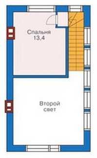План второго этажа двухэтажного дома из пеноблоков