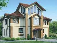 Фото трехэтажного дома из бруса общей площадью 234 кв.м.