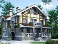 Фото трехэтажного дома из бруса общей площадью 250 кв.м.