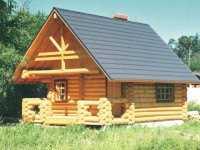 Фото загородного домика общей площадью 23,6 кв.м.