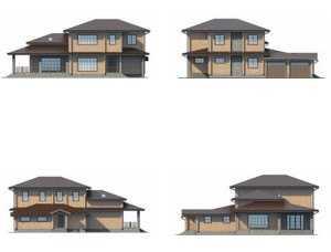 Фото фасадов большого деревянного дома