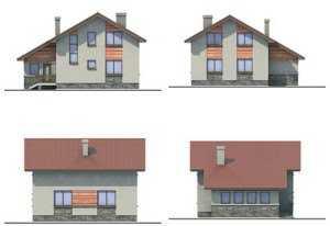Фото фасадов небольшого дома с мансардой