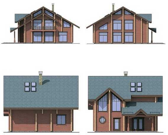 Фото фасадов трехэтажного деревянного дома