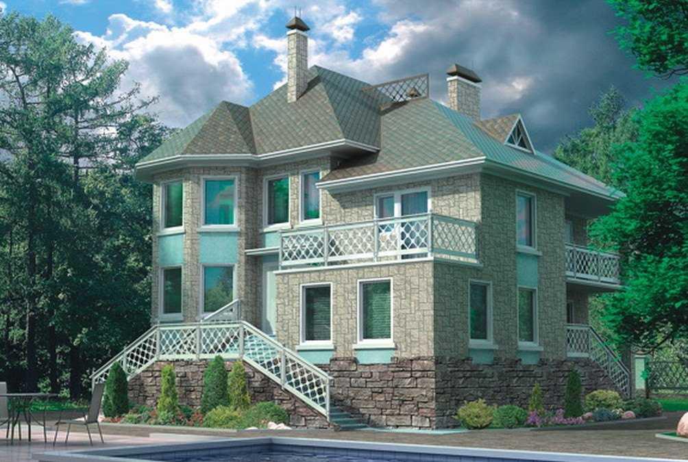 Фото красивого трехэтажного дома