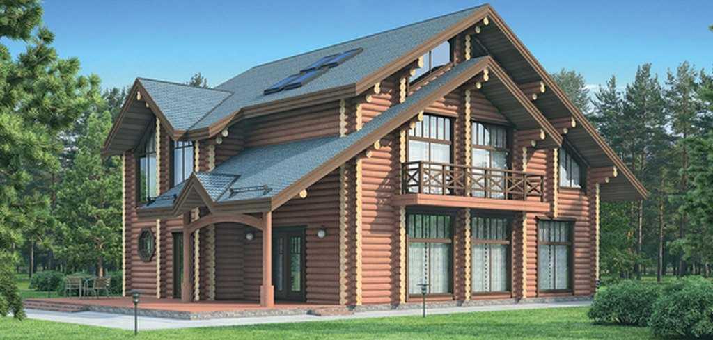 Фото трехэтажного деревянного дома