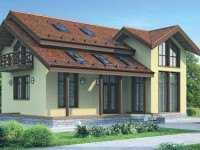 Фото каркасного одноэтажного дома общей площадью 326 кв.м.