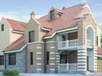 Фото красивого трехэтажного дома общей площадью 448 кв.м.