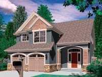 Фото небольшого дома с мансардой общей площадью 150 кв.м.