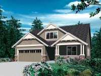 Фото небольшого дома с мансардой общей площадью 160 кв.м.