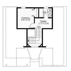 План второго этажа небольшого двухэтажного дома