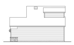 Небольшой двухэтажный дом - эскиз, вид справа
