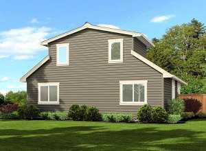 Небольшой двухэтажный дом - вид сзади