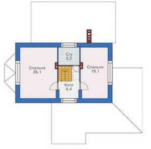 План мансардного этажа на фото