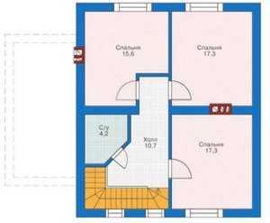 План мансардного этажа небольшого дома