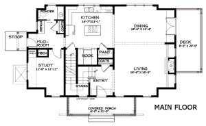План первого этажа большого каркасного дома