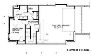 План подвального этажа большого каркасного дома