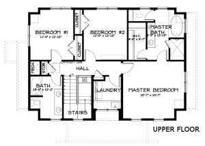План второго этажа большого каркасного дома