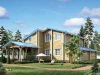 Фото болшого деревянного дома общей площадью 341 кв.м.