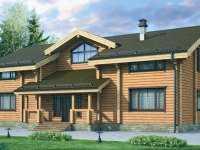 Фото болшого деревянного дома общей площадью 413 кв.м.