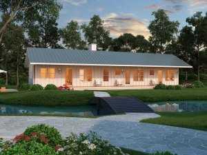 Небольшой красивый экономичный дом общей площадью 76 кв.м.