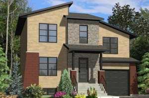 Небольшой двухэтажный дом общей площадью 122,17 кв.м.
