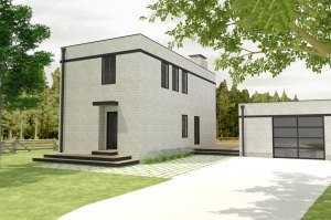 Небольшой двухэтажный дом общей площадью 124,49 кв.м.